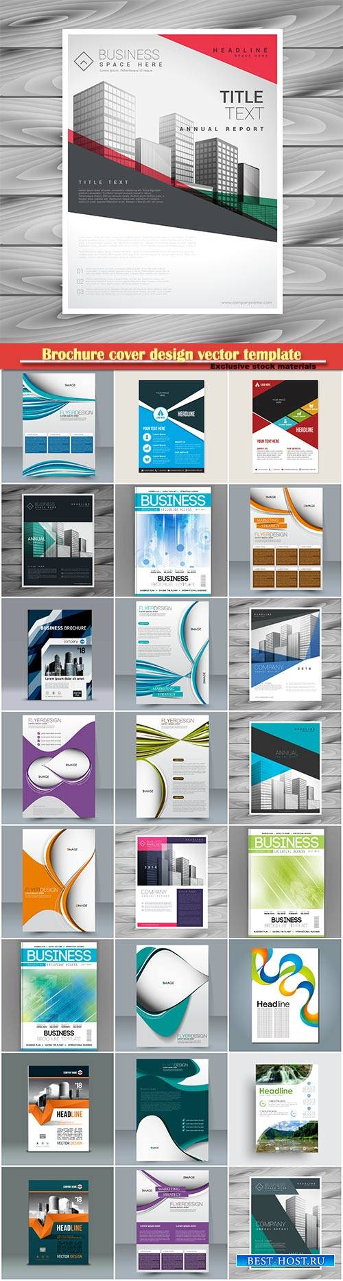 Brochure cover design vector template # 19