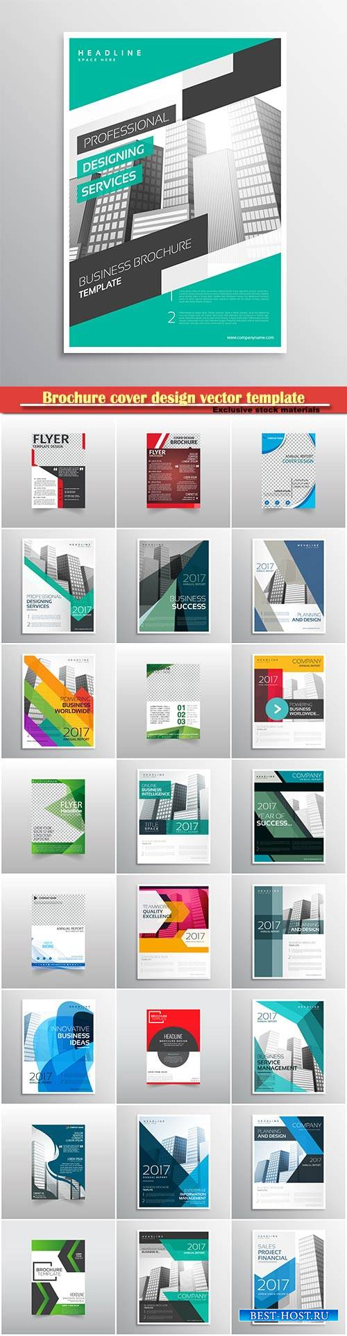 Brochure cover design vector template # 18