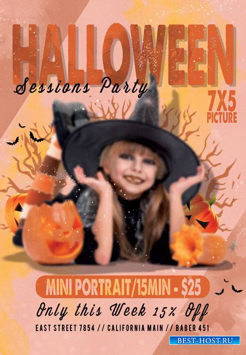 Halloween sessions - Premium flyer psd template