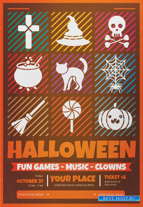 Halloween celebration - Premium flyer psd template