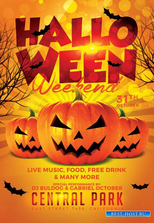 Halloween weekend - Premium flyer psd template