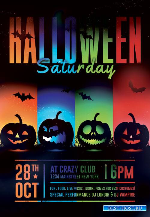 Halloween saturday - Premium flyer psd template
