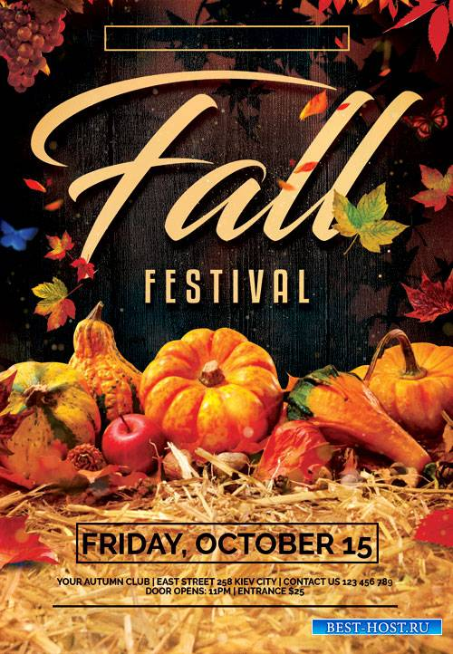 Fall fest - Premium flyer psd template