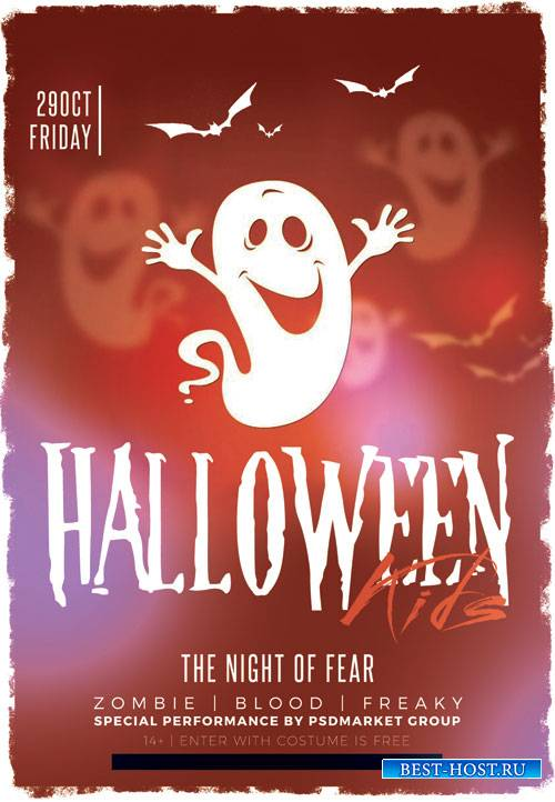 Halloween kid - Premium flyer psd template
