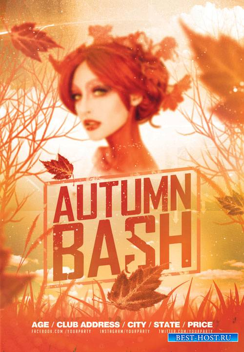 Autumn bash - Premium flyer psd template
