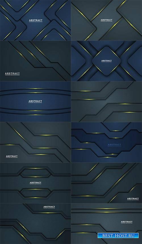 Синие абстрактные векторные фоны / Blue abstract vector backgrounds