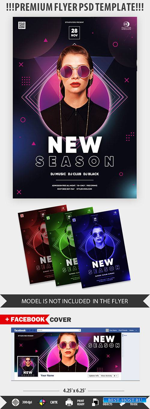 New Season PSD Flyer Template