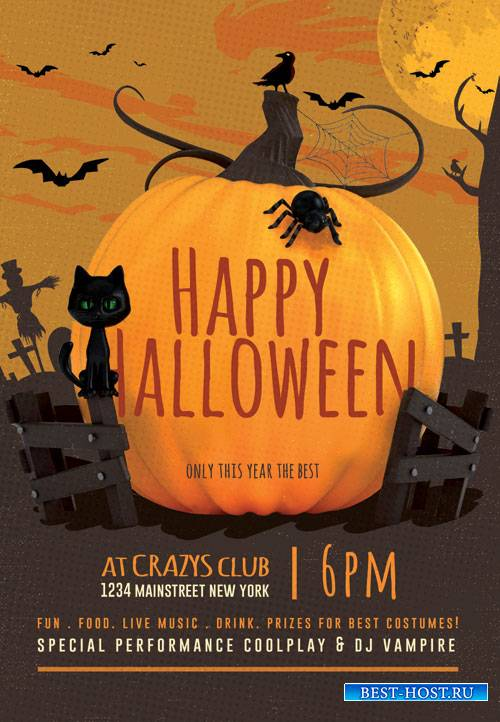 Happy halloween party - Premium flyer psd template