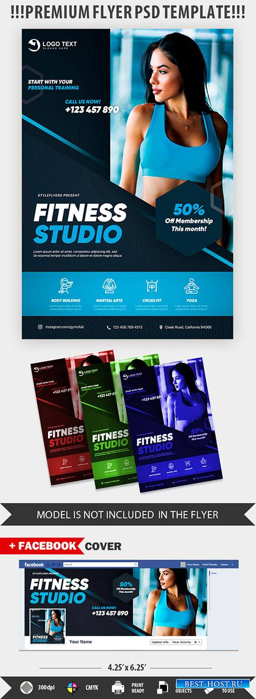 Fitness PSD Flyer Template