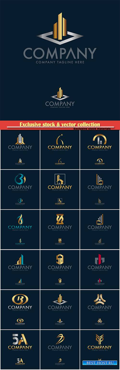 Logo vector template business set # 52