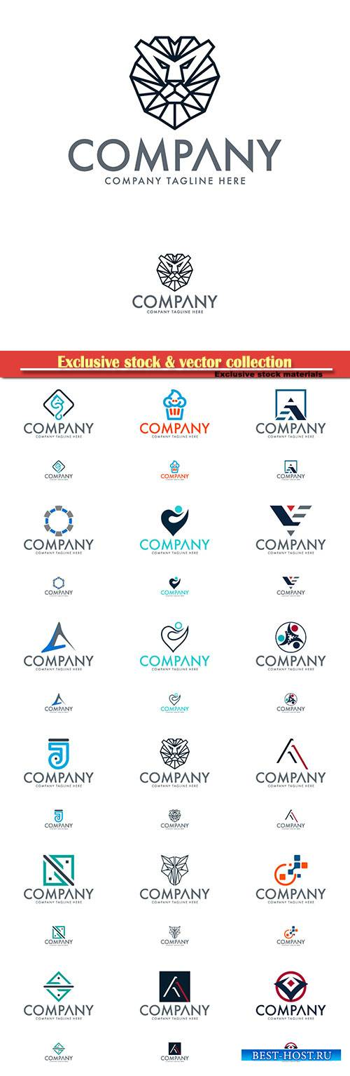 Logo vector template business set # 49