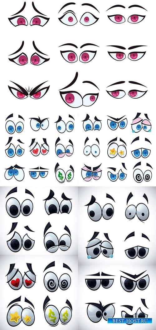 Глаза - Векторный клипарт / Eyes - Vector Graphics