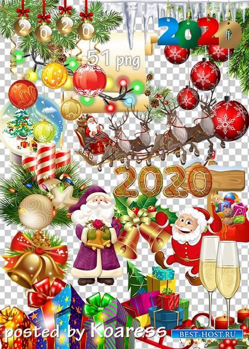 Клипарт в png - Новогодние украшения-2