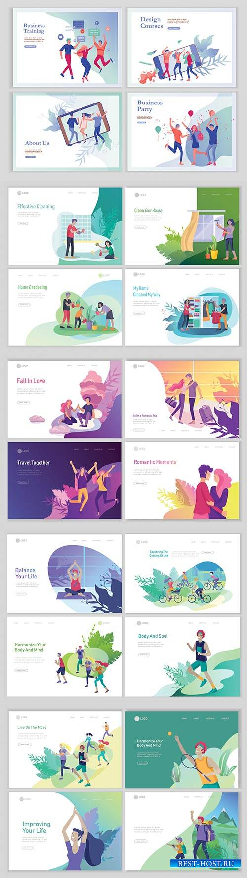 Website page isometric vector, flat banner concept illustration