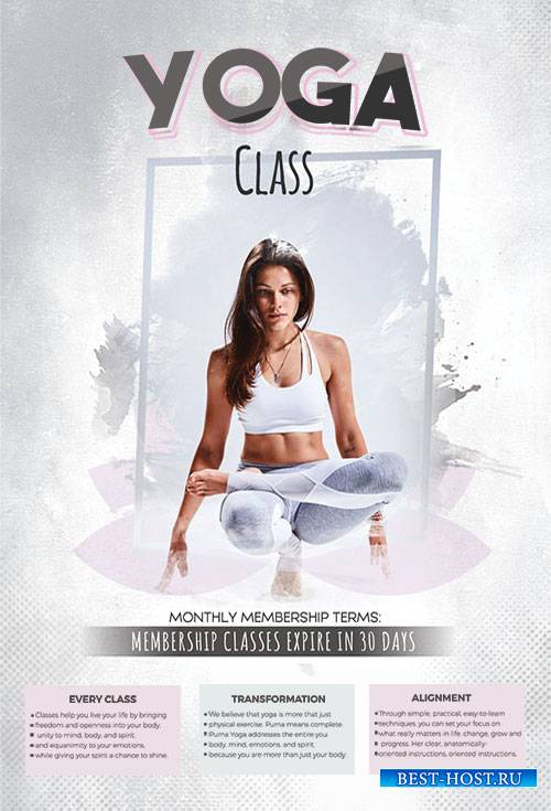 Yoga Day - Premium flyer psd template
