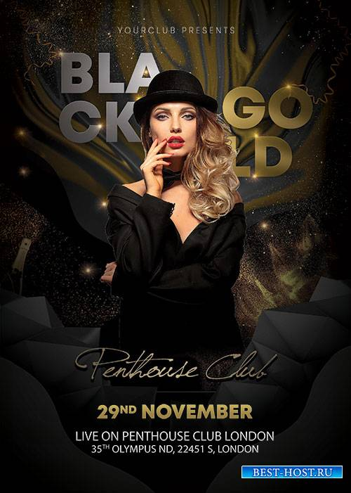 Black and Gold - Premium flyer psd template