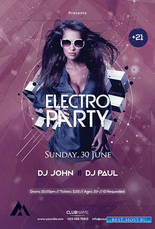 Electro Party - Premium flyer psd template