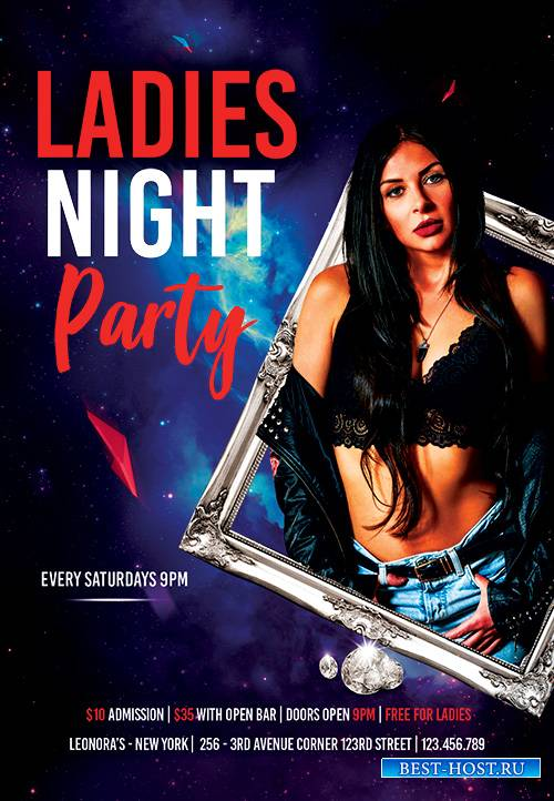 Ladies Event Party Club PSD Flyer Template