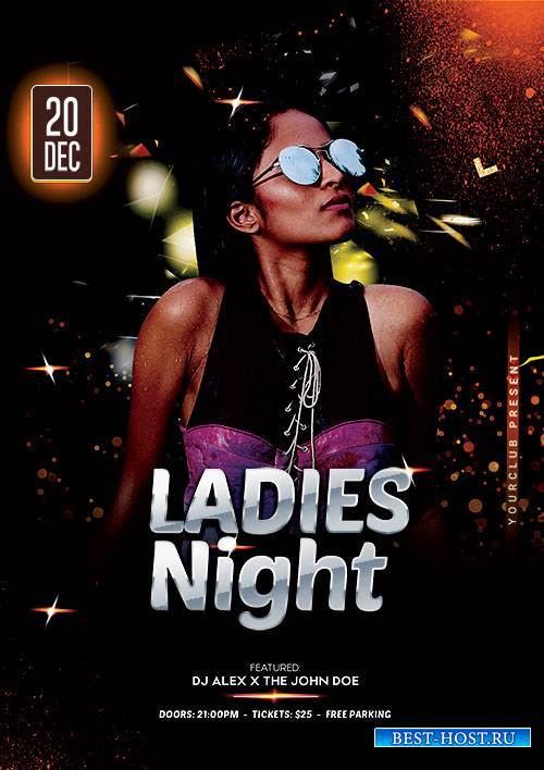 Ladies Night Event PSD Flyer Template