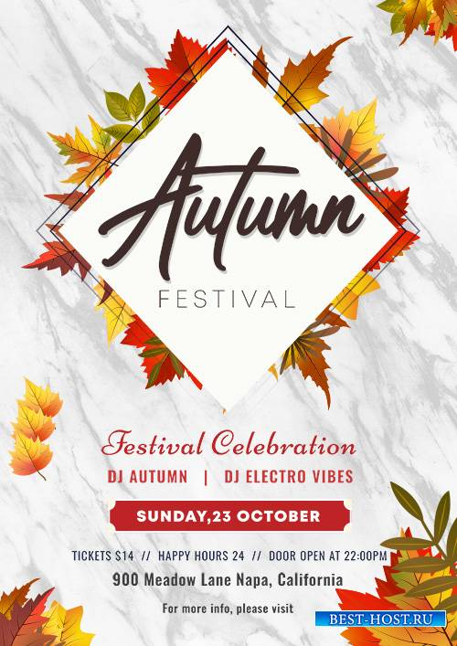 Autumn Festival - Premium flyer psd template