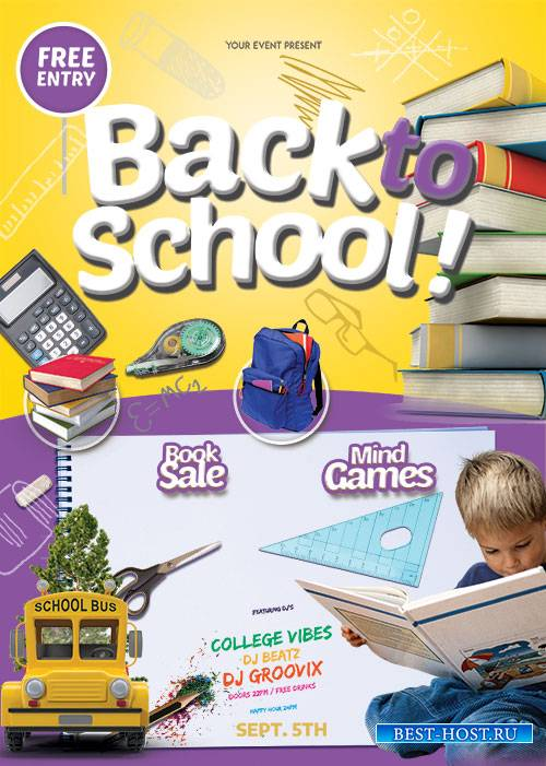 Back To School Kids - Premium flyer psd template