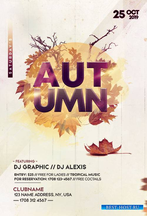 Autumn Fall Festival Party Flyer Template