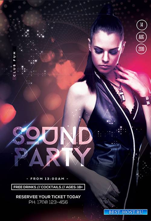Sound Party  Night PSD Flyer Template