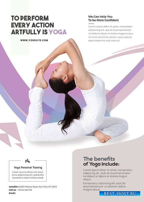 Main Files Yoga Class - Premium flyer psd template