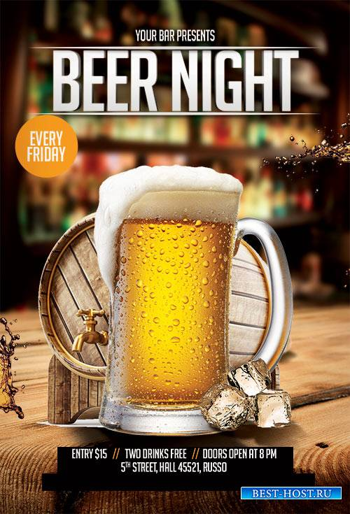 Beer Night - Premium flyer psd template