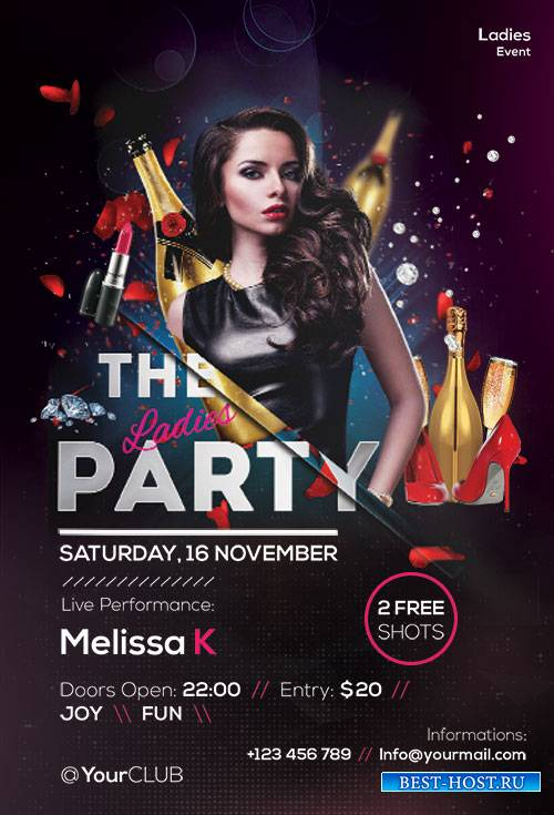 The Ladies Party - Premium flyer psd template