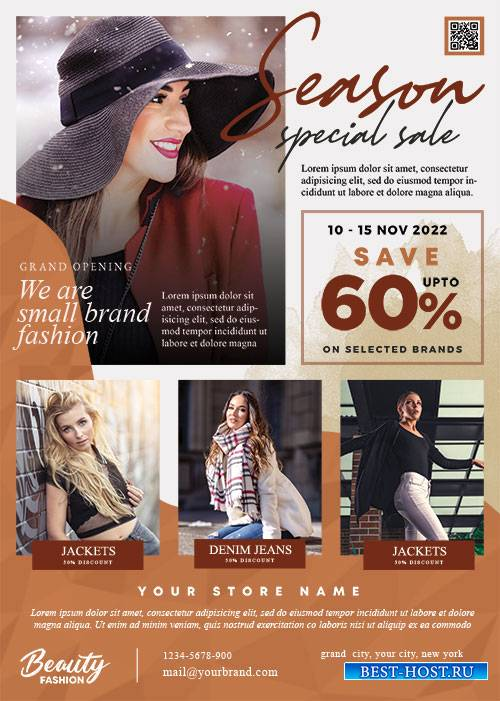 Fashion Sale - Premium flyer psd template