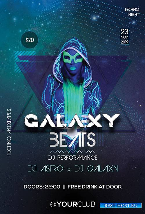 Galaxy Beats - Premium flyer psd template