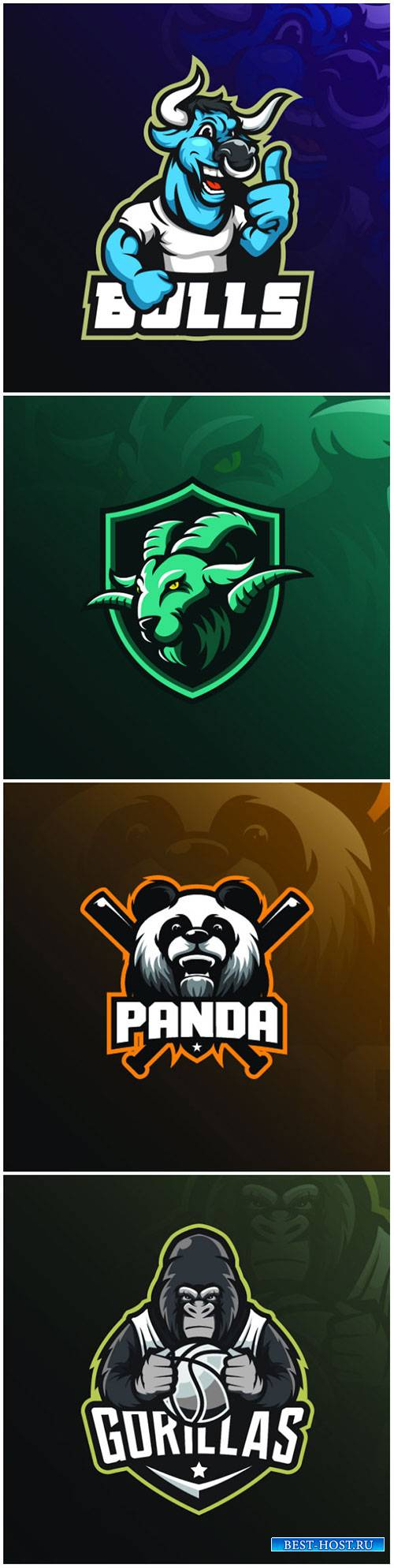 Mascot vector logo design with modern illustration concept style for badge, ...