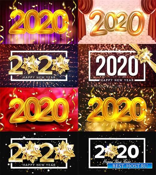 2020 Новый Год - Векторный клипарт / 2020 New Year - Vector Graphics
