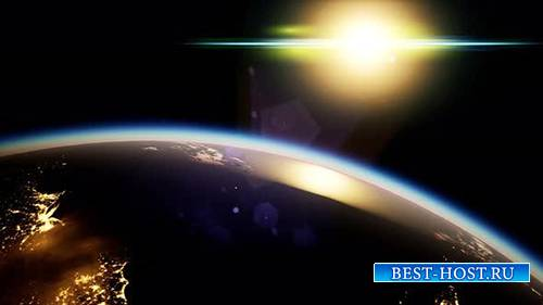 Videohive - Space, Sun and Planet Earth at Night - 24930473