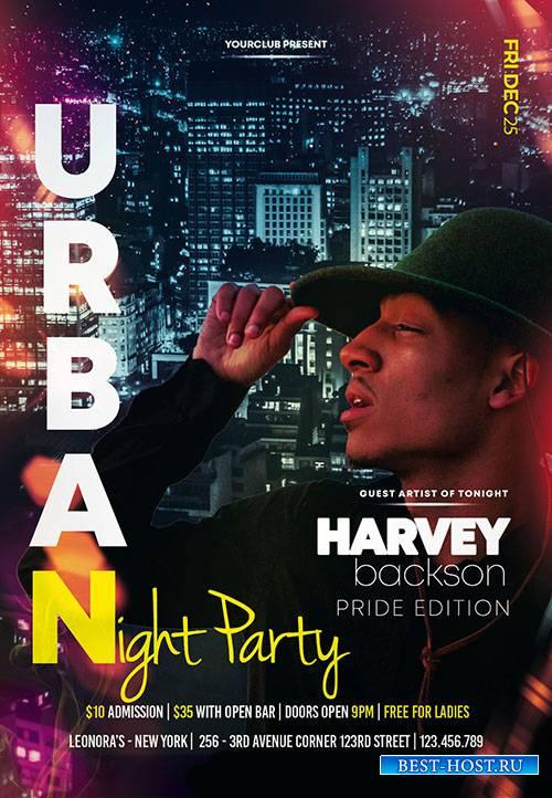 Urban Night Party - Premium flyer psd template