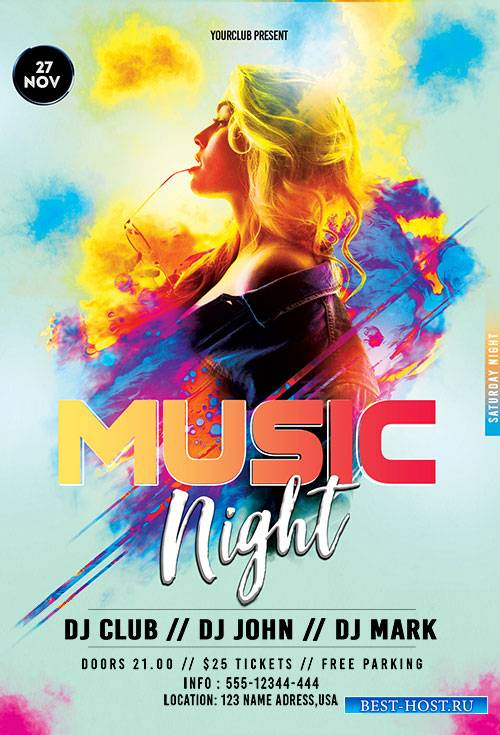 Music Night - Premium flyer psd template