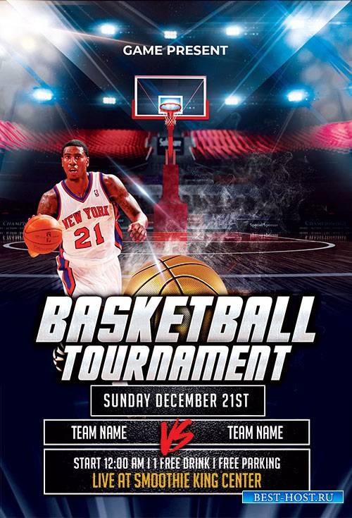 Basketball - Premium flyer psd template