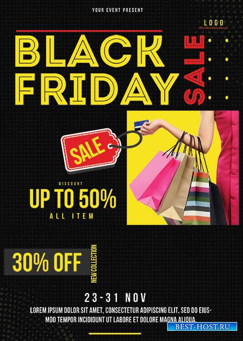 Black Friday - Premium flyer psd template