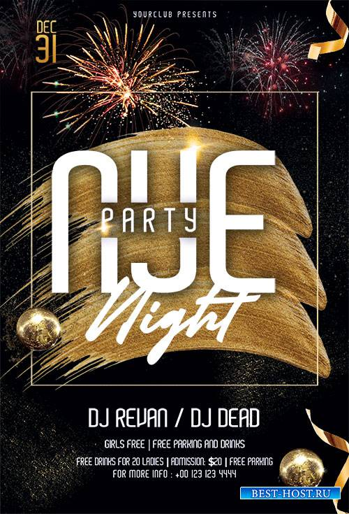 NYE Party Night - Premium flyer psd template