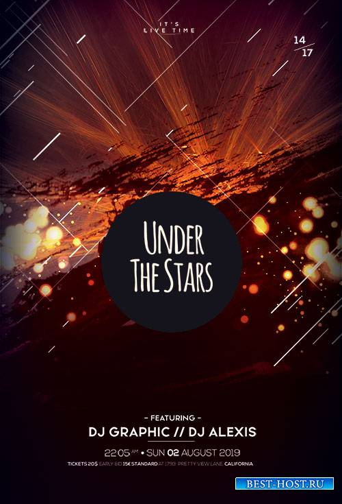 Under The Stars PSD Flyer Template