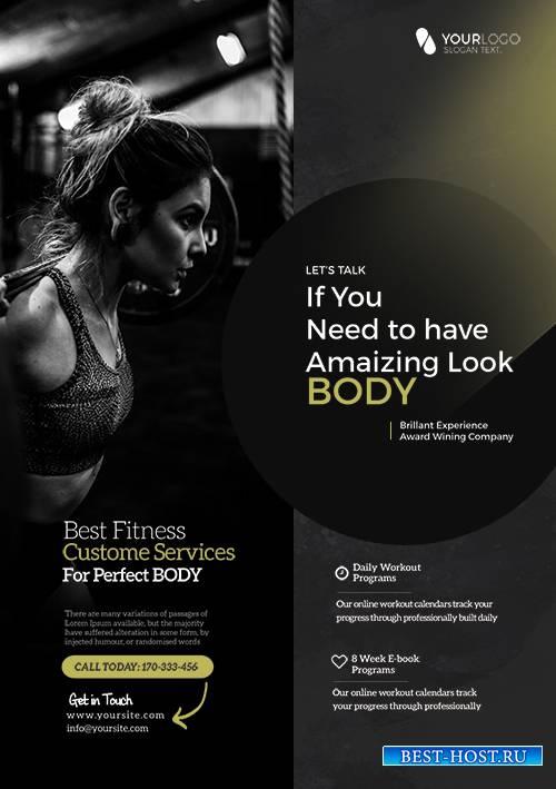 Creative Fitness PSD Flyer Template