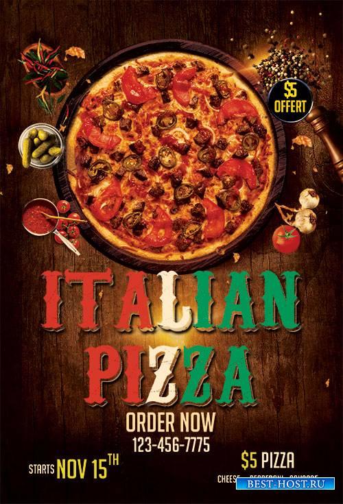 Italian Pizza PSD Flyer Template