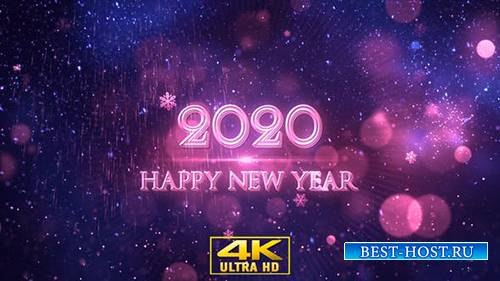 Videohive - Happy New Year 2020 Blue - 22948948