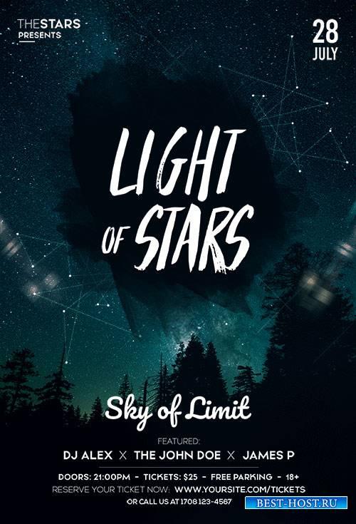 Light of stars psd flyer template