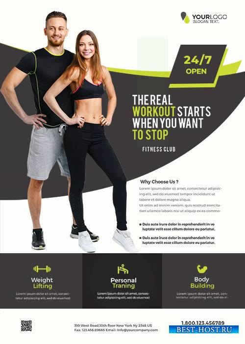Gym and Fitness PSD Flyer Template