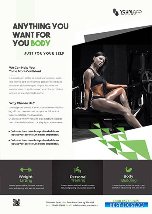 Fit your Body  Fitness PSD Flyer