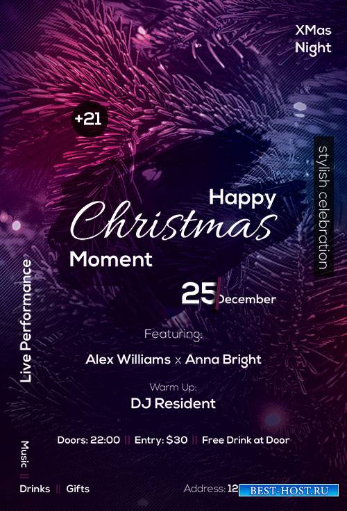 Happy Christmas - Premium flyer psd template