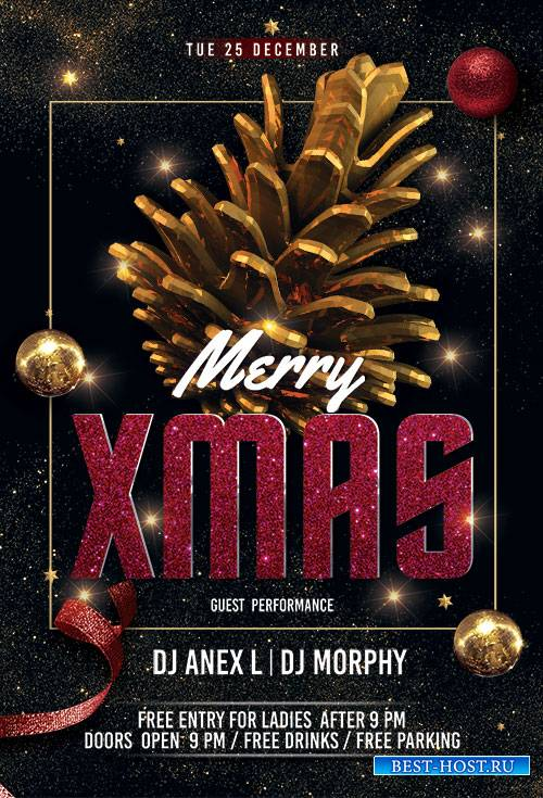 Merry XMAS Night - Premium flyer psd template