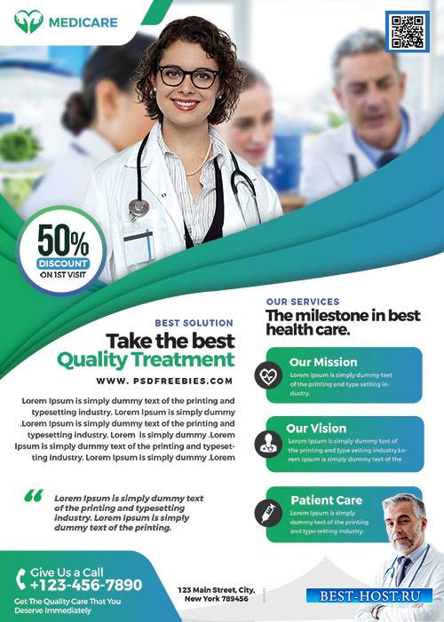 Medical Health Care - Premium flyer psd template